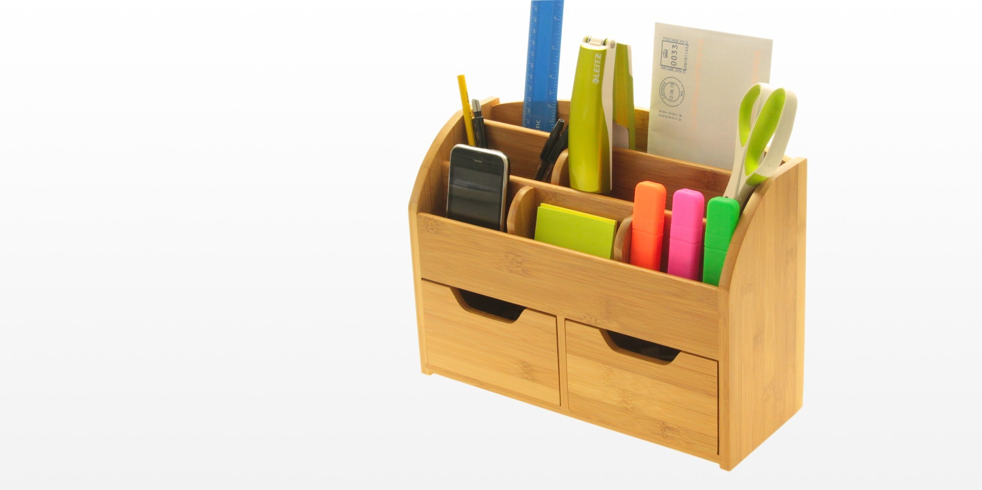 Desk stationery box wall mounted organiser - Desk stationery organiser ...