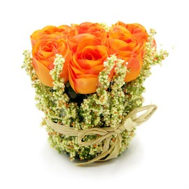 Artificial Orange Roses Bouquet
