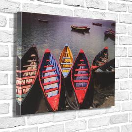 Photo Canvas - Coloured Boats